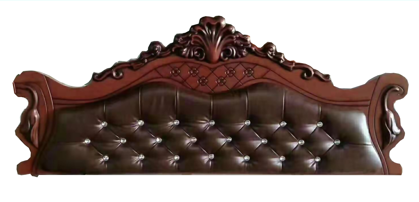 brown bed headboard